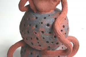 Bron, ceramic & oxide, 31 X 26.5 X 26 cm, 2004
