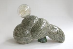 Transformer, ceramic, glass, copper wire, glaze, 29 X 39 X 18 cm, 2004