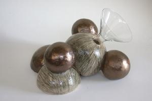 The Hedonist, ceramic, glass, glaze, 27 X 40 X 33 cm, 2004