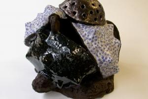 Ovule, ceramic with glazes, 2006