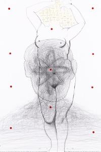 Contrapposto I, mixed media on paper, 66 X 50 cm, 2014