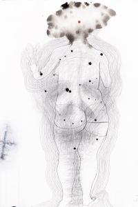 Contrapposto III, mixed media on paper, 66 X 50 cm, 2014