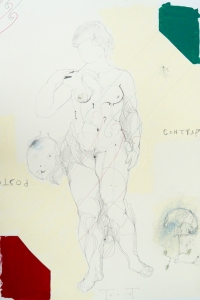 'Contrapposto' series, mixed media on paper, 100 X 70, 2014. jpg