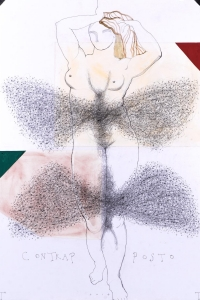 'Contrapposto' series, mixed media on paper, 100 X 70 cm, 2014