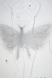 Contrapposto II, mixed media on paper, 66 X 50 cm, 2014
