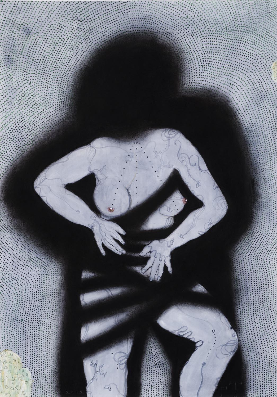 'Persephone' series, mixed media on paper, 100 X 70 cm, 2012