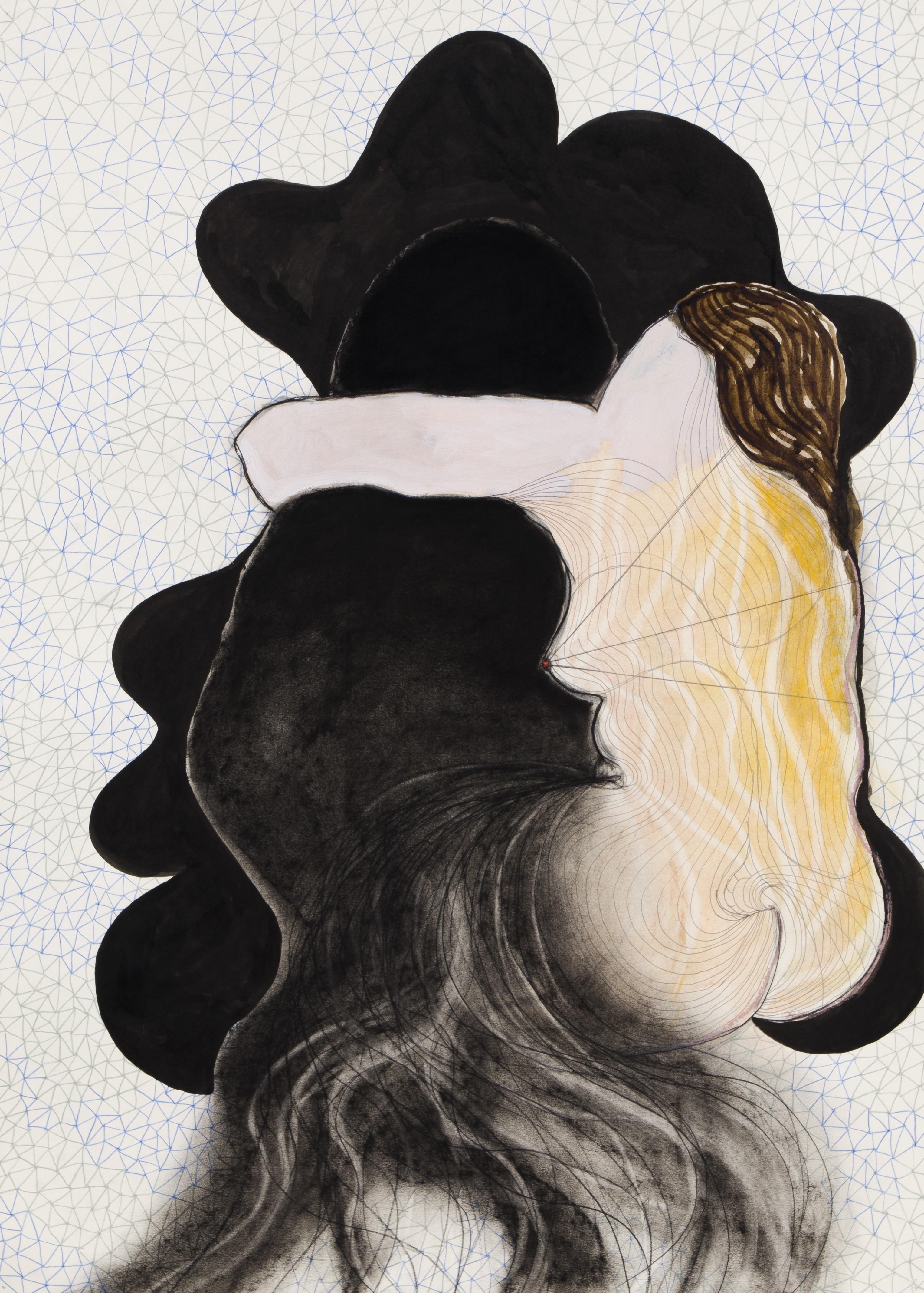'Persephone' series, mixed media on paper, 100 X 70 cm, 2014