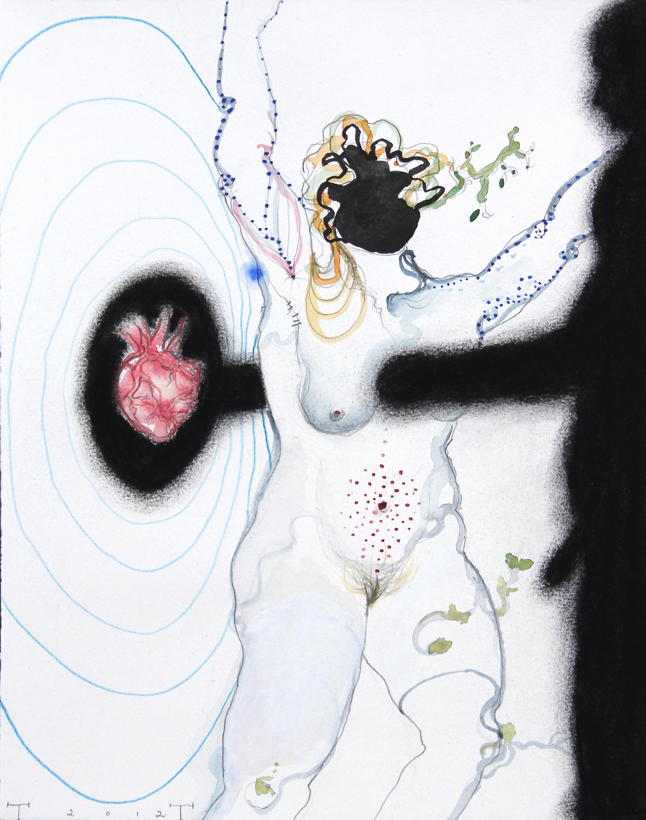 'Persephone' study, mixed media on paper, 33 X 25 cm, 2012