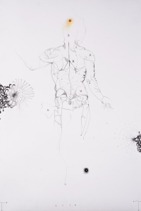 Ecce Homo (after Vesalius), mixed media on paper, 100 X 70 cm, 2010