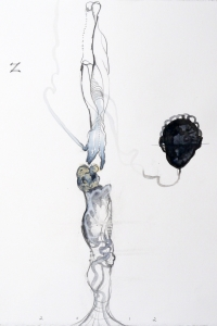 Vesalius series, mixed media on paper, 33 X 25 cm, 2012