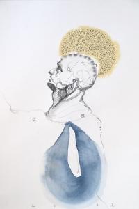 Vesalius study, mixed on paper, 33 X 25 cm, 2012
