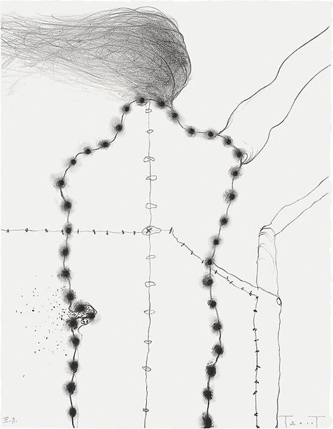 Afscheid, lithograph, 50 X 39 cm, 2011