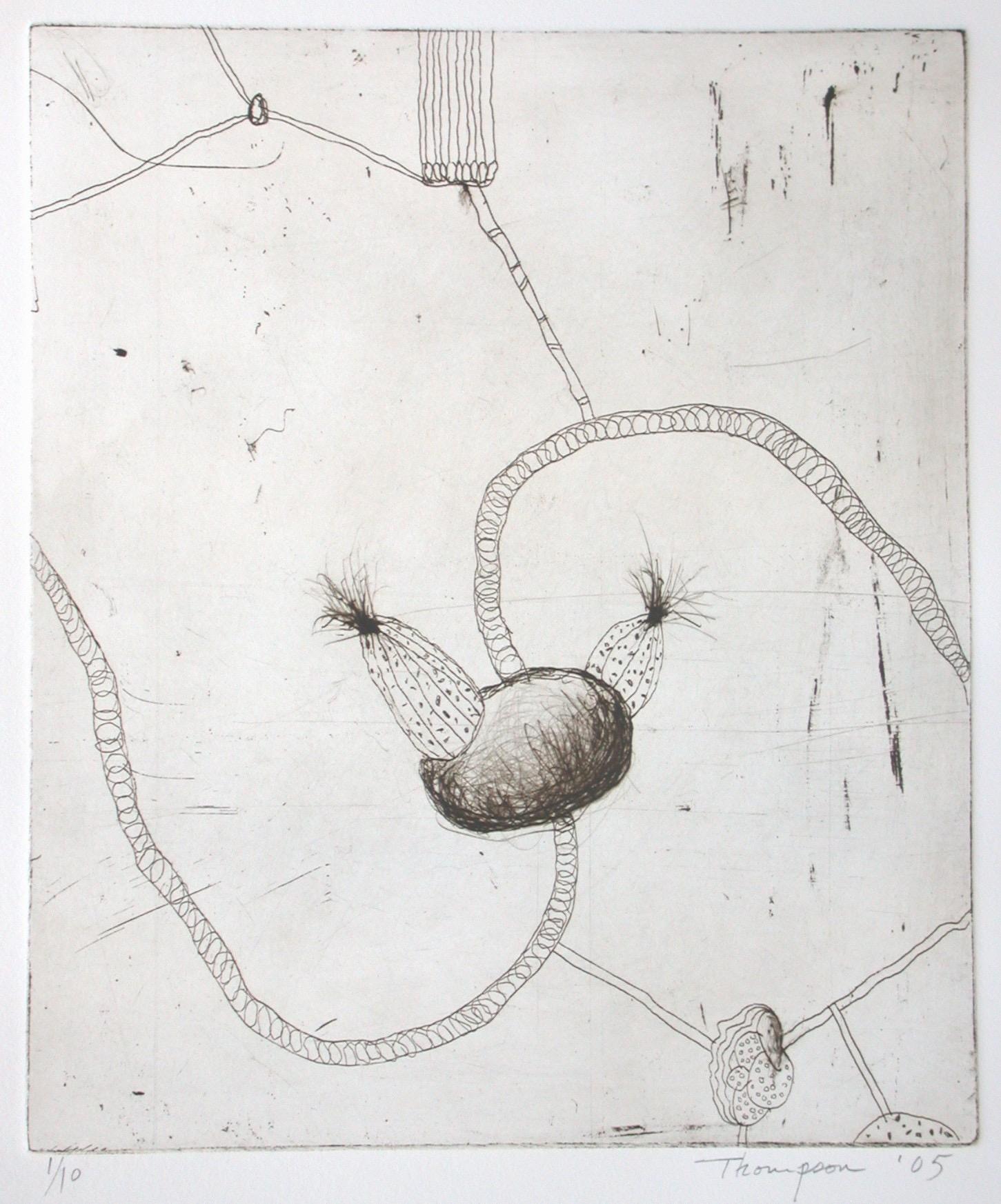 Strange Fruit II, etching, edition 10, image size 29.5 X 24.5 cm, 2005