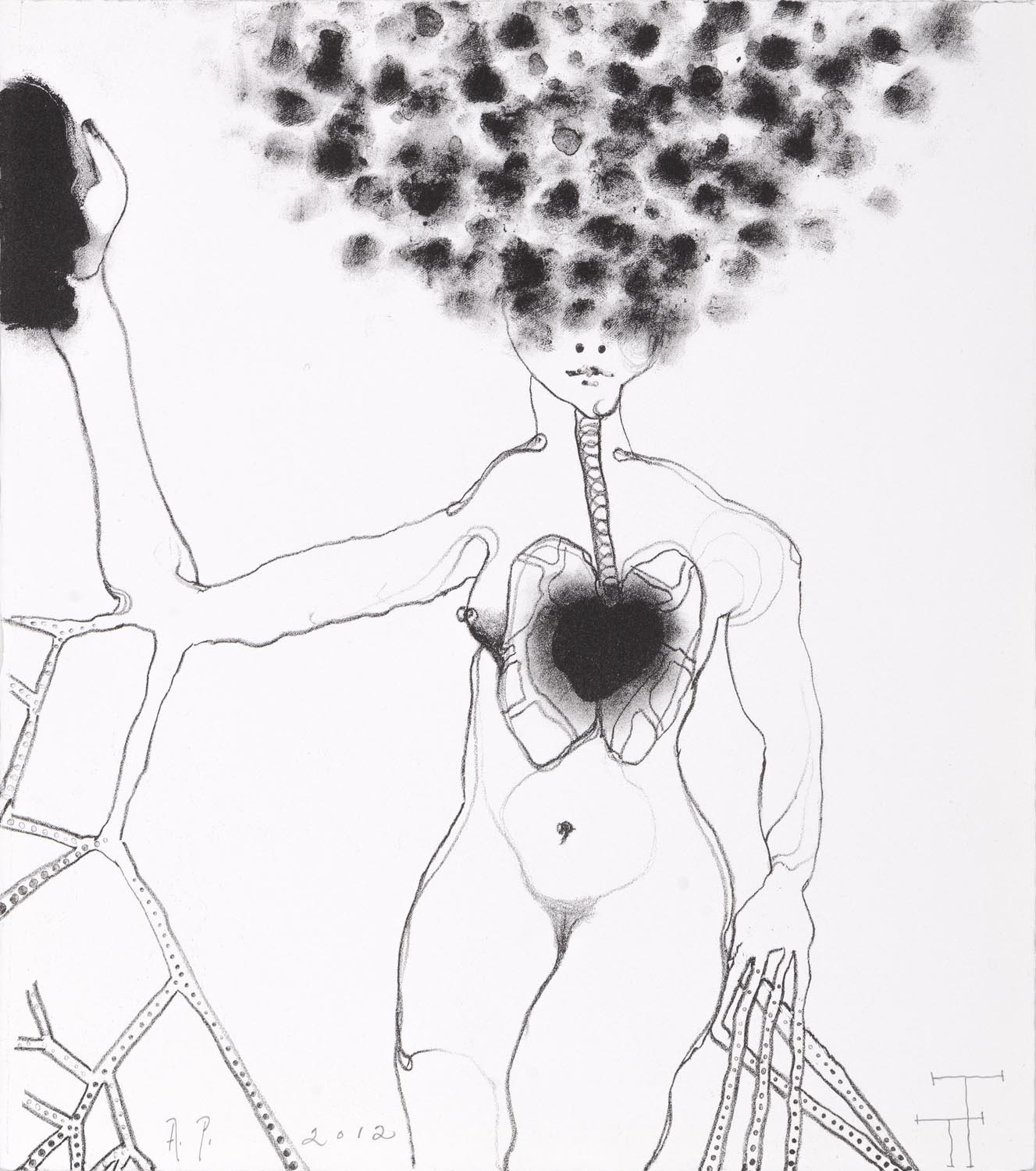 'Persephone' series, lithograph, 30 X 27 cm, 2012