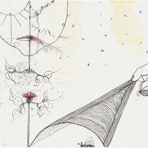Dochter, lithograph, 50 X 65 cm, 2011