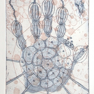 Handeling, etching, edition 10, image size 23.5 X 17.5 cm, 2002