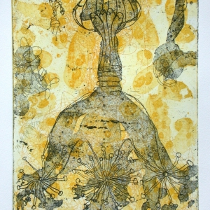 untitled, etching, edition 11, image size 23.5 X 17.5 cm, 2002