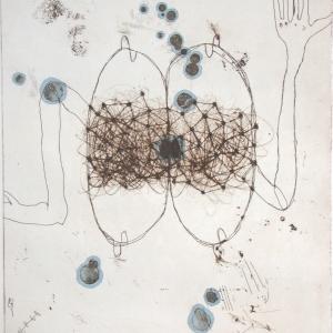 Strange Fruit III, etching, edition 10, image size 29.5 X 24.5 cm, 2005