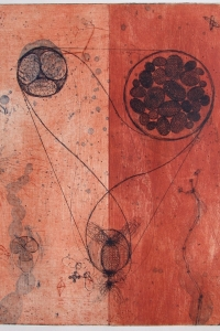Trinity Cell, etching, edition 6, image size 49.5 X 40 cm , 2002