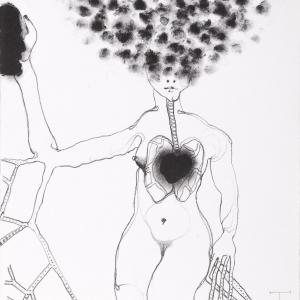 'Persephone' series, lithograph, 30 X 27 cm, 2012