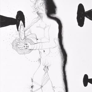Shaman, lithograph, 30 X 27 cm, 2012