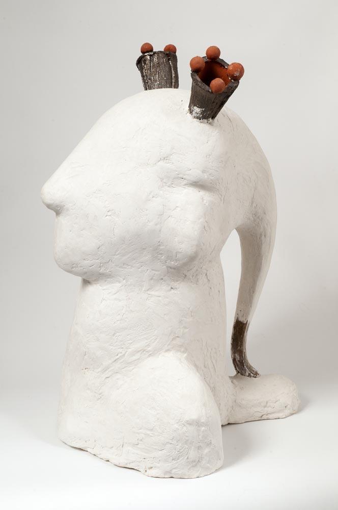 Minerva, plaster, crystacast, wood, 71 X 53 X 60 cm, 2011