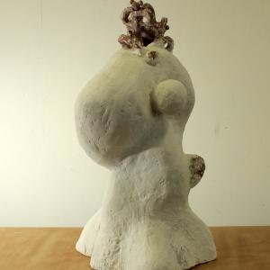 Hypnos, crystacast, plaster ploymer, ceramic, 67 X 43 X 34 cm, 2011