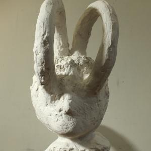 Orpheus (detail), plaster, 100 X 32 X 90 cm, 2011