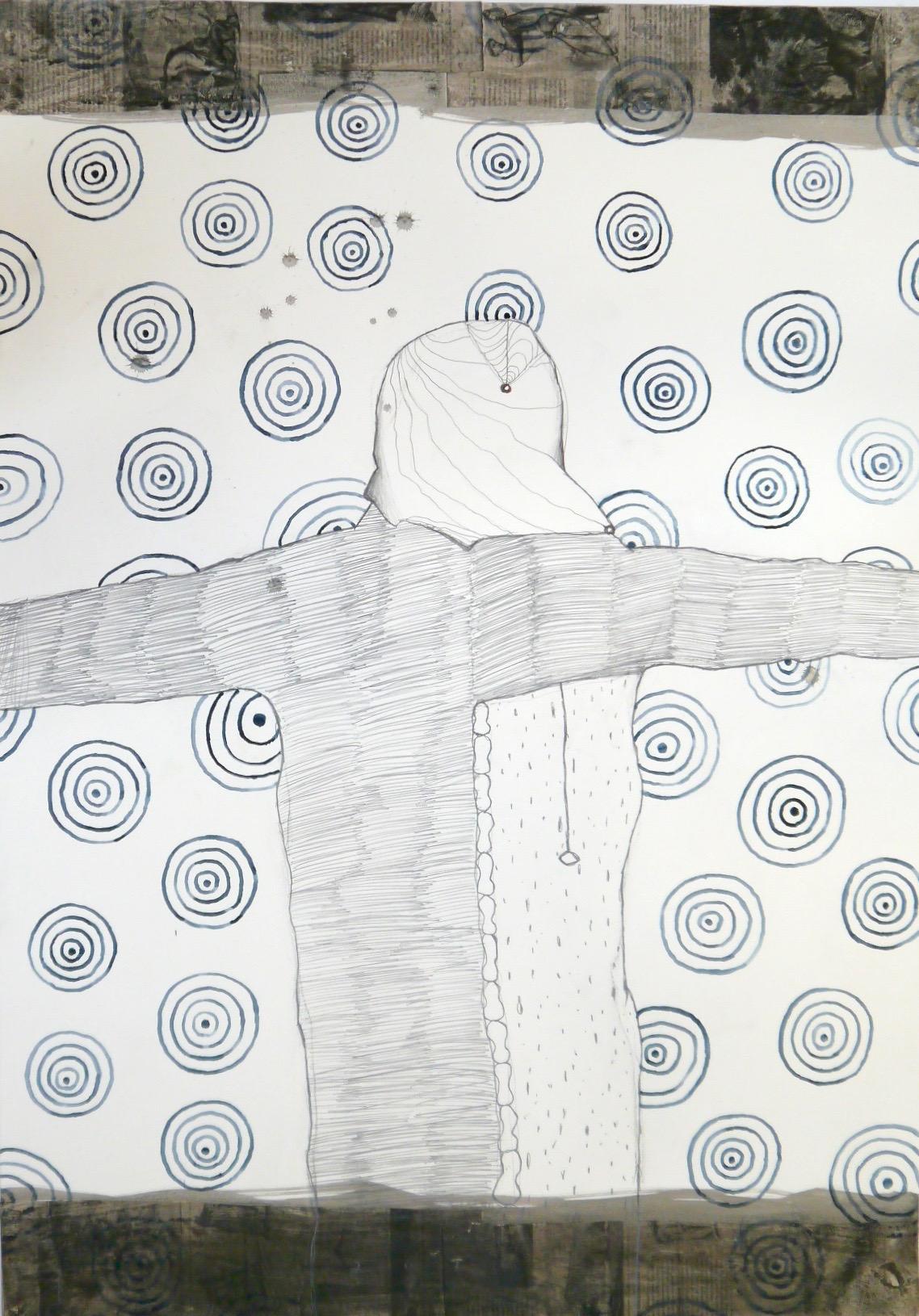 Aria, mixed media on paper, 100 X 70 cm, 2016