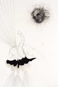 Epiphany, mixed media on paper, 100 X 70 cm, 2018