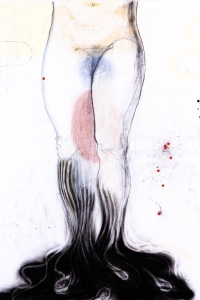 Persephone, mixed media on paper, 100 X 70 cm, 2014 (collection Joost Hesseling & Madeleine Klis)
