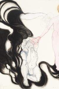 Phantom Pain II, gem. techniek op papier, 100 X 70 cm, 2013
