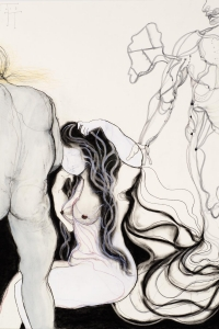 Phantom Pain, gem. techniek op papier, 100 X 70 cm, 2013