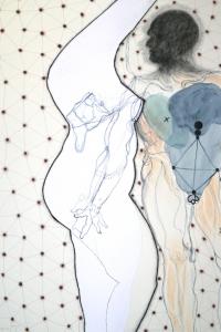 Phantom Pleasure, mixed media on paper, 100 X 70 cm, 2014