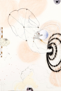 The Dream, mixed media on paper, 100 X 70 cm, 2014