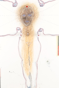 untitled, mixed media on paper, 100 X 70 cm, 2014