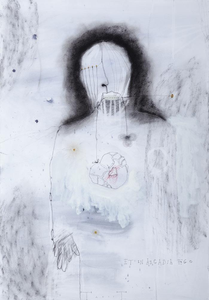 Et in Arcadia Ego, mixed media on paper, 100 X 70 cm, 2011