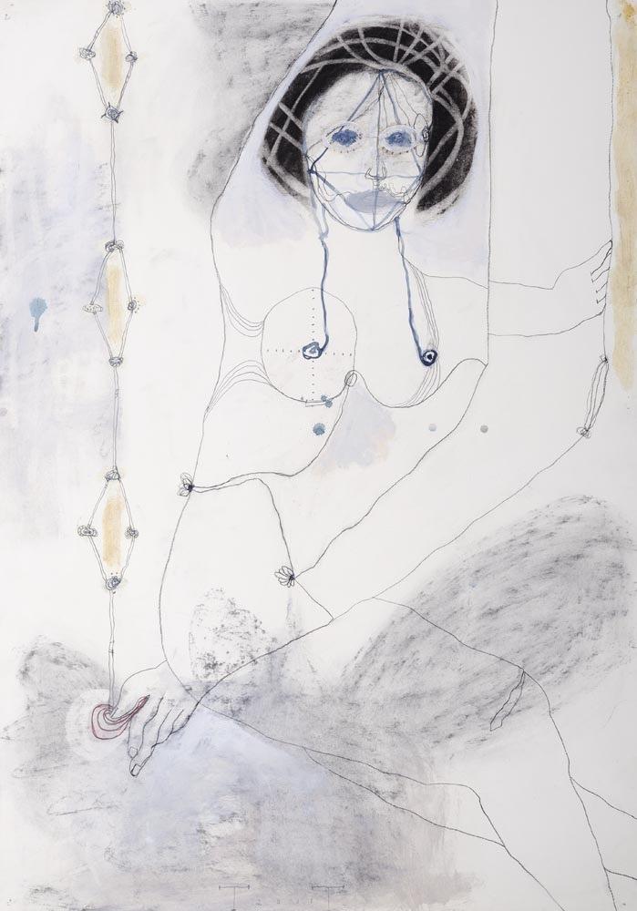 Cassandra, mixed media on paper, 100 X 70 cm, 2011
