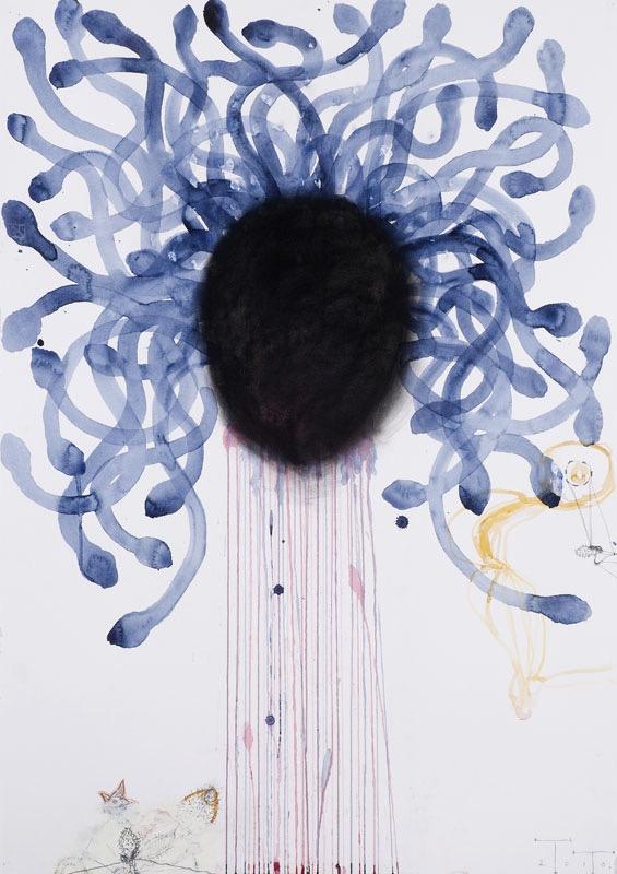 Medusa I, mixed media on paper, 2010 (collection Joost Hesseling & Madeleine Klis)