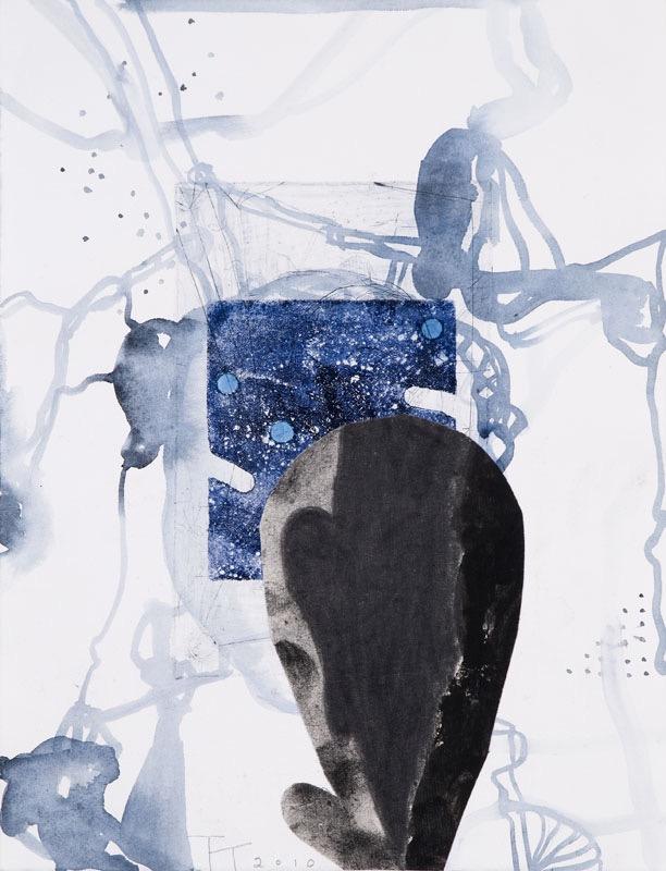 Surrogate, mixed media on paper, 33 X 25 cm, 2010