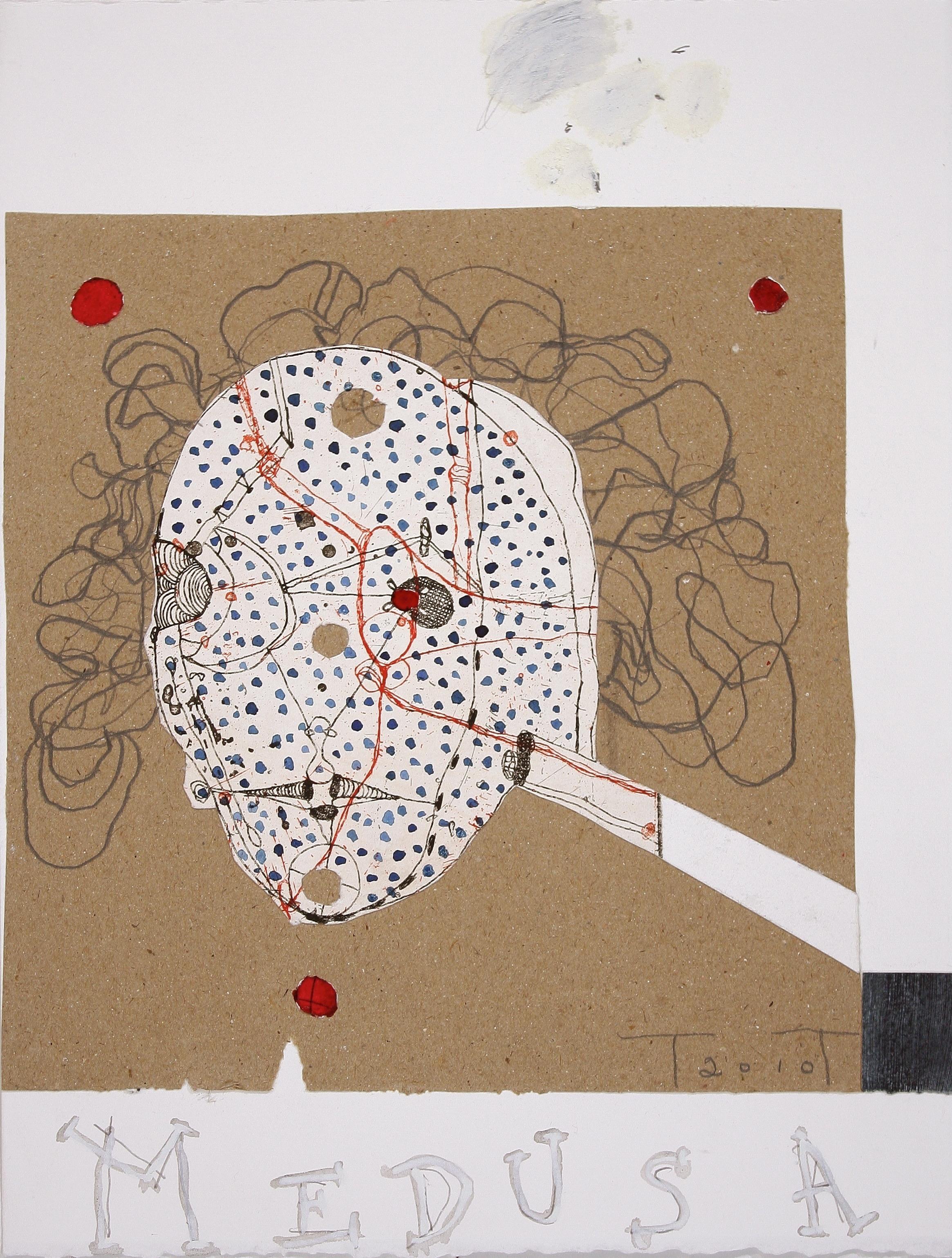 'Medusa' study, mixed media on paper, 33 X 25cm, 2010