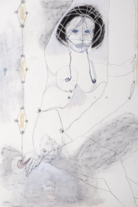 Cassandra, mixed media on paper, 100 X 70 cm, 2011