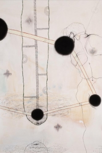 The Well of Memory, mixed media on paper, 100 X 70 cm, 2011