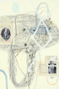 untitled, mixed media on paper, 100 X 70 cm ,2011