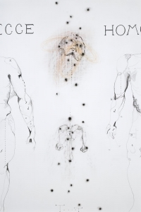 'Ecce Homo', mixed media on paper, 100 X 70 cm, 2010