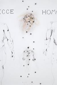 'Ecce Homo', mixed media on paper, 100 X 70 cm, 2010 (private collection)