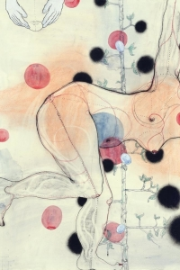 Eva, mixed media on paper, 100 X 70 cm, 2012