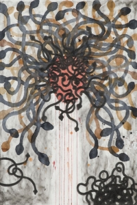 Medusa III, mixed media on paper, 100 X 70 cm, 2010