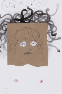 'Medusa' study, mixed media on paper, 50 X 66 cm, 2010
