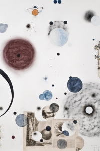 Orbits II, mixed media on paper, 100 X 70 cm, 2010